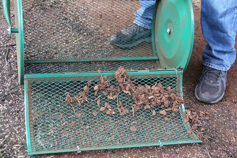 Landzie Compost Spreader With Door Open