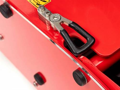 Swardman grassbox safety lock