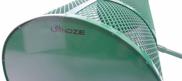 Landzie 44 inch compost spreader end view