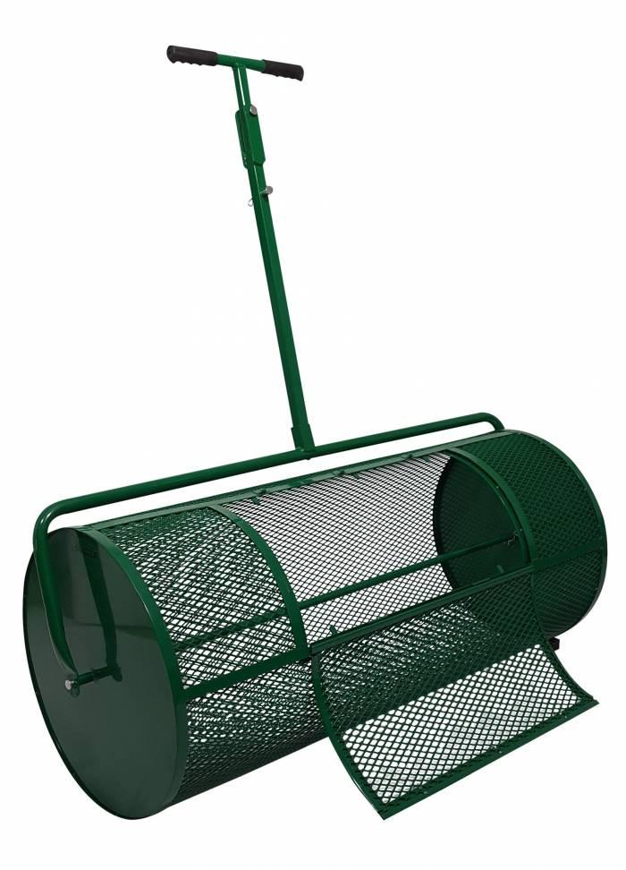 Landzie 44 inch compost spreader open gate
