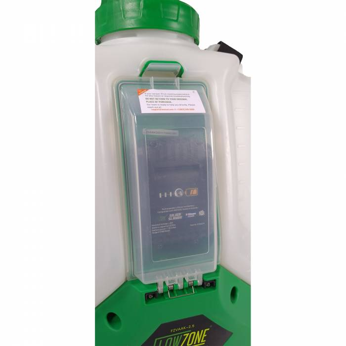 FlowZone Sprayer Battery Compartment
