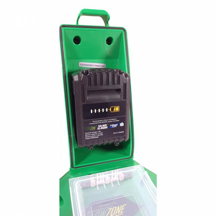 FlowZone Cyclone Sprayer Battery Compartment Open